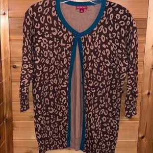 Merona Leopard Print Cardigan